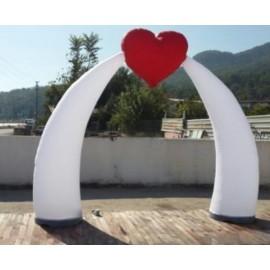 İkiz Kalpli Fildişi Reklam Balonu