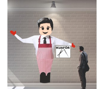 Erkek Kuaförü Reklam Balonu
